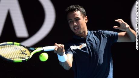 Hugo Dellien was the first Bolivian to play at the Australian Open