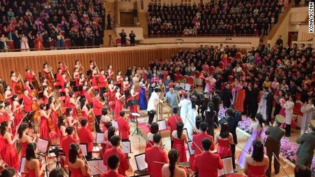 North Korean leader Kim Jong Un at the concert.