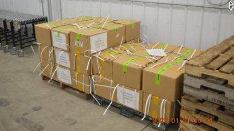 CBP officers discovered 45 cartons of counterfit $1 bills.