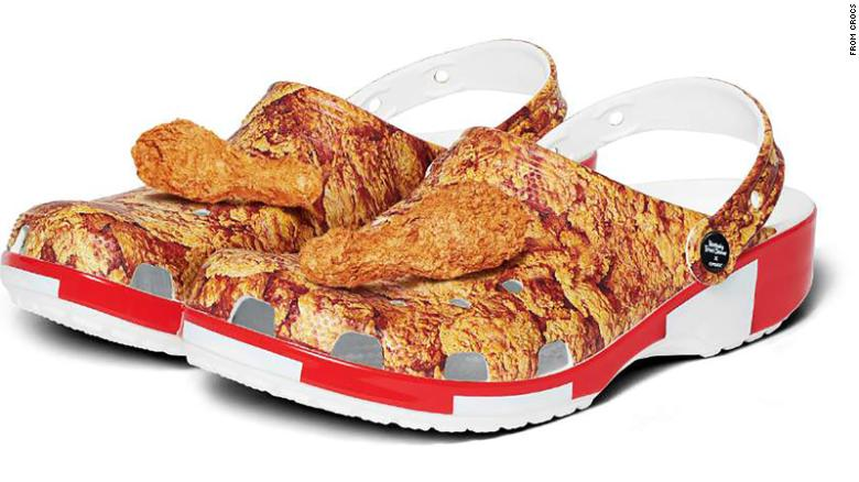 The Kentucky Fried Chicken and Crocs collaboration will arrive this spring.