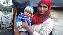 Nisha outside her home in Banjara Basti, Thane, on January 5, 2020