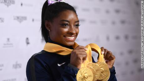 Biles says the Olympic postponement is the 'right decision'