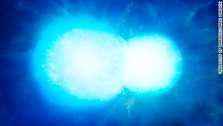 Astronomers say that the bizarre, largely white dwarf star is likely to have two that merge together