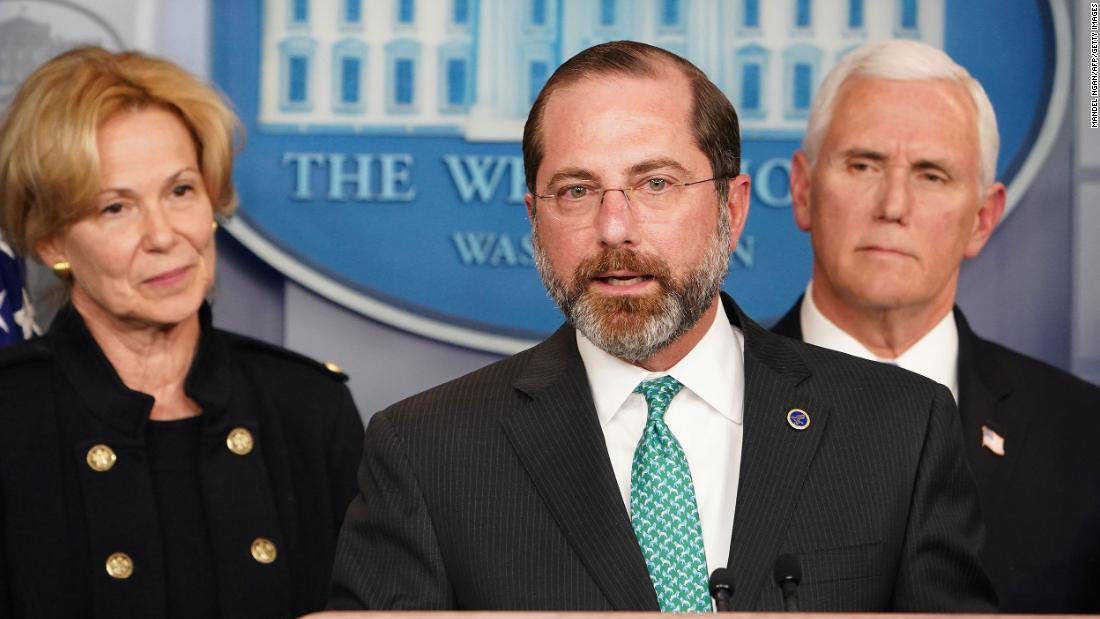 Alex Azar: White House officials are discussing plans to replace ...