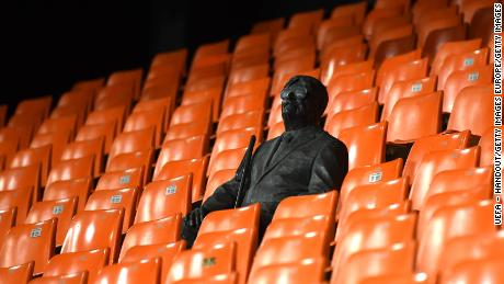 A statue of the late Valencia fan Vicente Navarro was placed in the club's Mestalla Stadium last year.