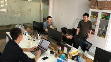 TravelFlan employees in Shanghai. The Hong Kong-based startup struggled to make ends meet last year before changing its strategy and winning new investment.
