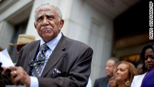 The Rev. Joseph Lowery speaks during a 2012 press conference in Atlanta.
