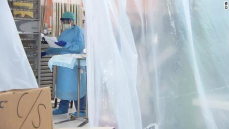 Inside a hospital overflowed with patients and deaths at Covid-19