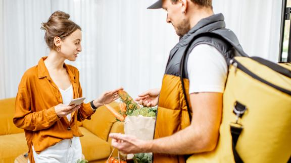 Food delivery services earn 4% on the Capital One Savor, and some grocery deliveries earn 2% as well.