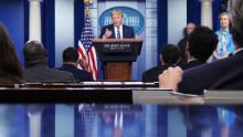 Injured Trump blames press for fury over disinfectant comments as Birx defends