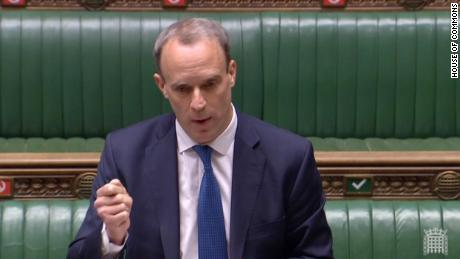 """Foreign Secretary Dominic Raab warned China that """"the UK is watching."""""""