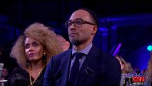 Hibist Legesse and Dr Rob Gore at the CNN Heroes 2018 ceremony. Gore was honored for his work with the Kings Against Violence Initiative.