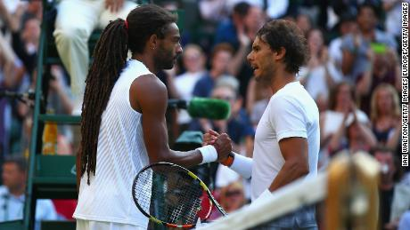 Dustin Brown famously beat Radael Nadal in the second round at Wimbledon in 2015.