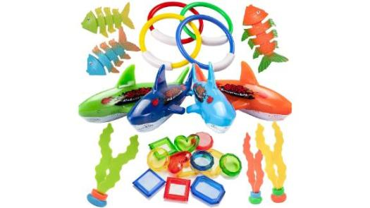 Uneede 26-Piece Diving Pool Toys