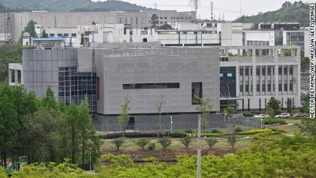 A general view shows the P4 laboratory at the Wuhan Institute of Virology in Wuhan in China's central Hubei province on April 17.