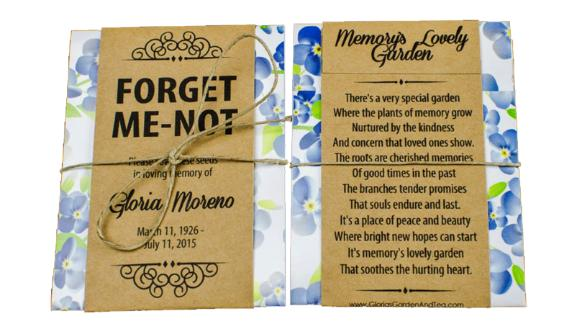 Personalized Memorial Forget-Me-Not Seed Packets