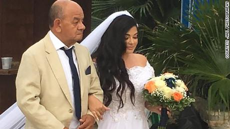 Lately the memory of her dad walking her down the aisle has been on Garcia's mind.