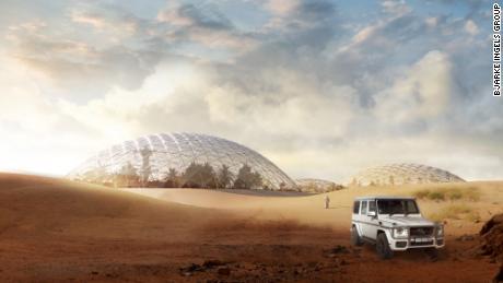 Les architectes ont conçu une ville martienne pour le désert à l'extérieur de Dubaï