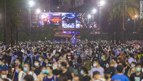 Thousands took part in a vigil for Tiananmen in 2020, despite the event being banned on coronavirus grounds.