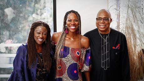 Yvonne Orji with her parents