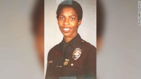 Cheryl Dorsey when she was a rookie police officer for the LAPD back in the '80s.