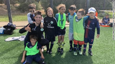 Some of the players with the San Francisco Glens Soccer Club in 2019.