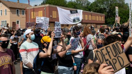 Minneapolis demonstrators have called to defund the Minneapolis Police Department.