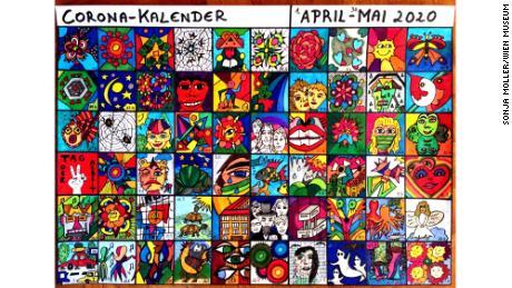 Самодельный календарь изображает опыт каждого дня в тюрьме в Вене, Австрия