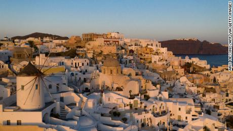 The impact of a Covid lockdown has already been dramatic for Santorini, a destination that relies on tourism for 90% of its income.