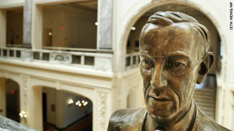 A Woodrow Wilson bust in the building of the University of Monmouth bears his name.