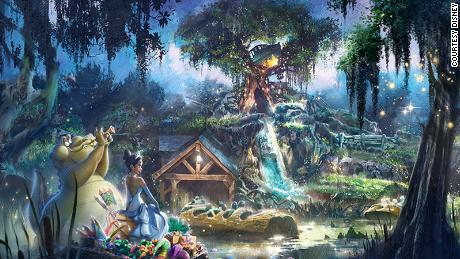 """Disney said that the new Splash Mountain will pick-up the story of """"Princess and the Frong"""" after the film's """"final kiss."""""""