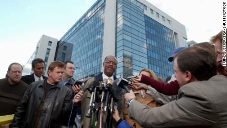 Fulton County District Attorney Paul Howard takes questions about the investigation into a shooting at the Fulton County Courthouse in March 2005.