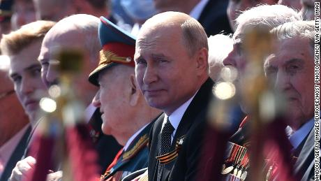 Russian President Vladimir Putin hosts a Victory Day military parade in Moscow, Russia, on June 24, 2020.