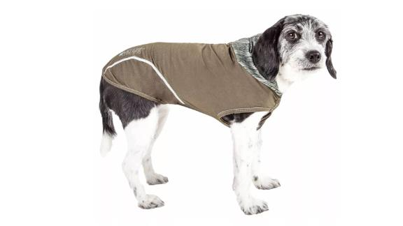 Pet Life Active Pull-Rover 4-Way Stretch 2-Toned Performance Sleeveless Hoodie