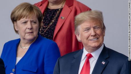 Angela Merkel, German Chancellor, and US President Donald Trump in 2018.