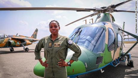 Tolulope Arotile: Nigeria's first female combat helicopter pilot ...