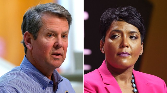 Brian Kemp and Keisha Lance Bottoms