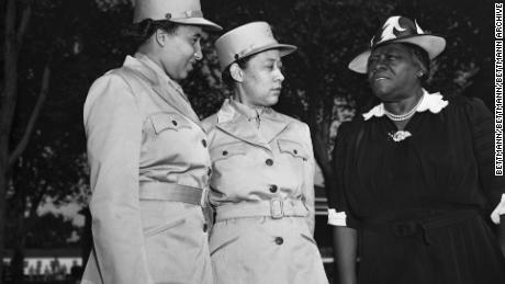 """Mary McLeod Bethune was a member of President Franklin Roosevelt's """"Black Cabinet"""" and worked to ensure Black women were able to join up."""