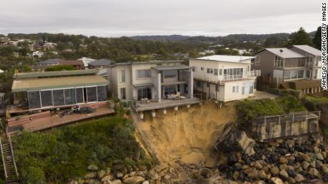 Luxury homes in Australia are falling into the sea due to coastal erosion