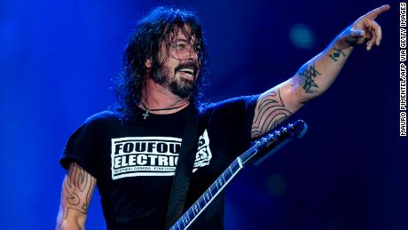 """Dave Grohl of Foo Fighters performs onstage during the """"Rock in Rio"""" festival at the Olympic Park, Rio de Janeiro, in September 2019."""