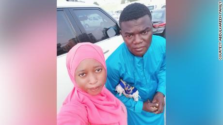 Nigerian couple Suliyat Abdulkareem and Tijani Abdulkareem in Dubai.