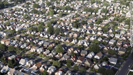 A suburban neighborhood in Elmont, New York. Despite laws against discrimination in housing, many American cities remain racially segregated.