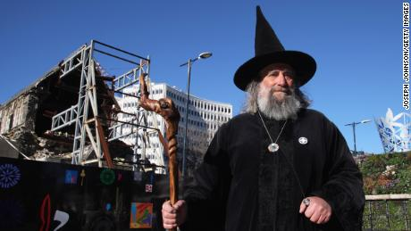 The Wizard after the Christchurch Square reopened to the public in 2013 following a deadly earthquake in 2011.