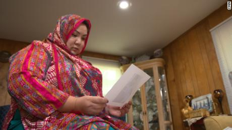 Uyghur exile Zumrat Dawut, pictured at her home in the United States, says that she was forcibly sterilized by the Chinese government.