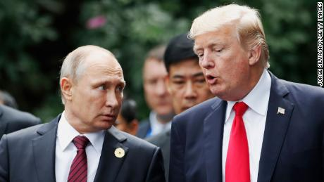 Trump and Putin chat at the APEC Summit in Danang, Vietnam, in 2017.