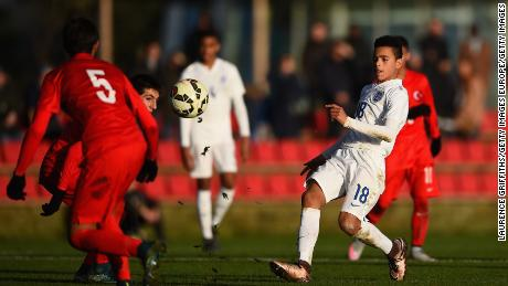 Greenwood in action during the international friendly between England U15 and Turkey U15 at St George's Park on December 21, 2015 in Burton-upon-Trent, England.