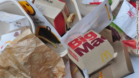 Toxic chemicals may be in fast food wrappers and take-out containers, report says