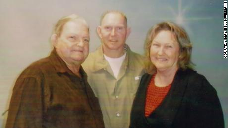 Bobby Williams, center, an inmate at FCI Seagoville who has tested positive for coronavirus, with his parents, Bobby and May Belle, in 2012.