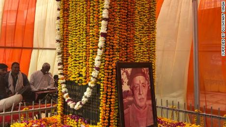 """A shrine in the town of Deeg, Rajasthan, which marks Raja Man Singh's """"place of martyrdom."""""""