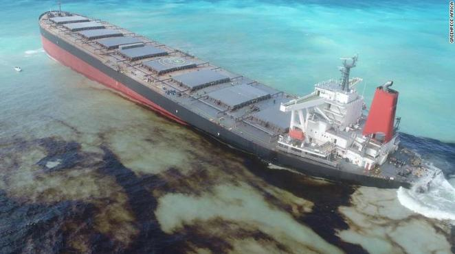 Mauritius oil spill: Fears grow that stricken ship could break ...